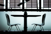 Free Images : table, silhouette, black and white, chair ...