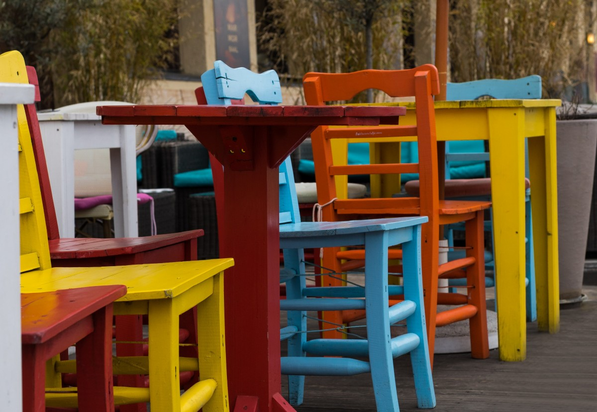 colorful wooden kitchen chairs folding chair cost free images table structure seating seat
