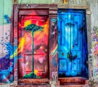 Free Images : window, wall, paint, facade, graffiti, door ...