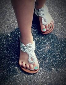 Free Hand Woman Leather Feet Summer Female