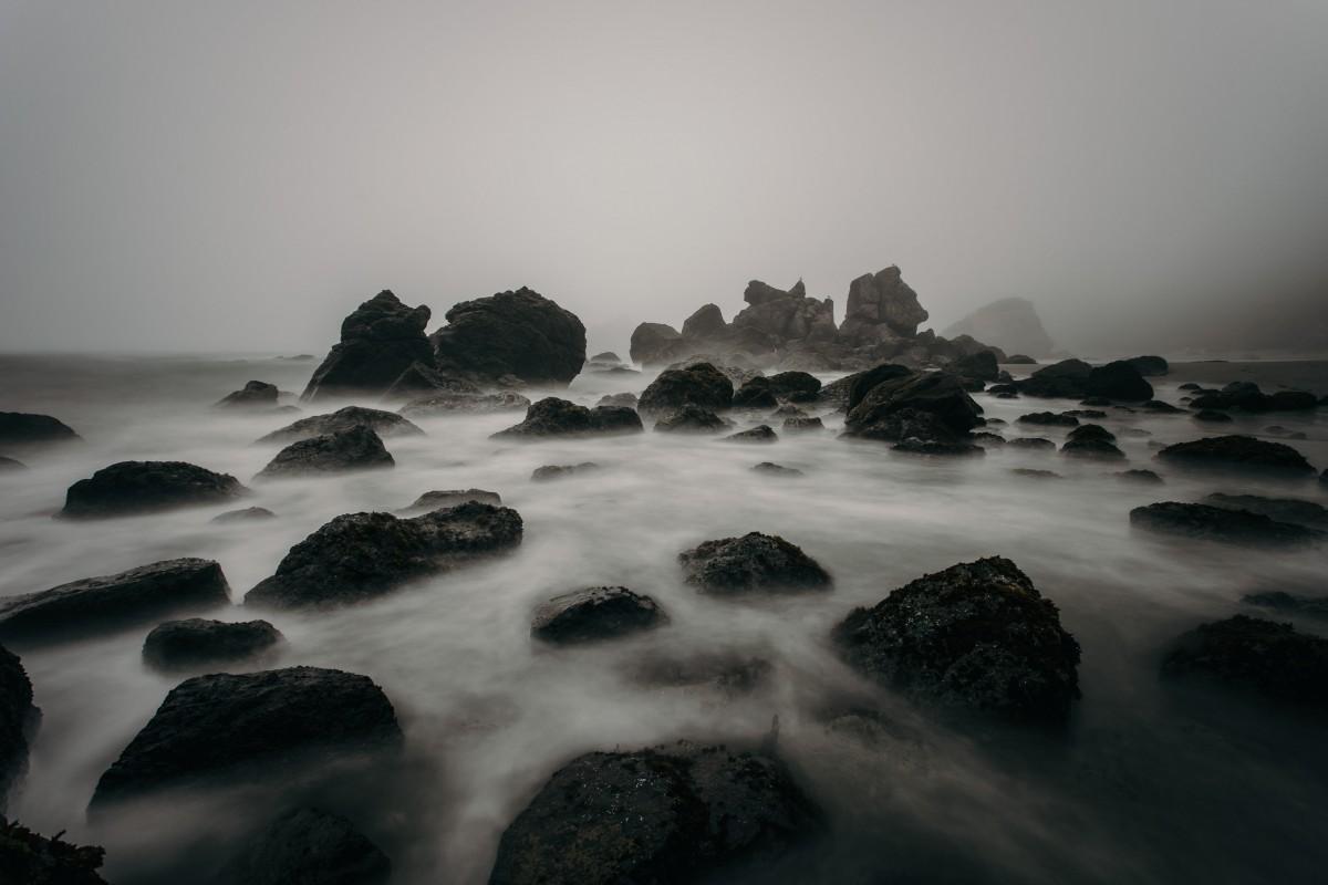 Free Images Sea Water Ocean Horizon Fog Sunrise