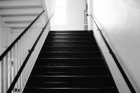 Free Images : light, black and white, stair, wall, step ...