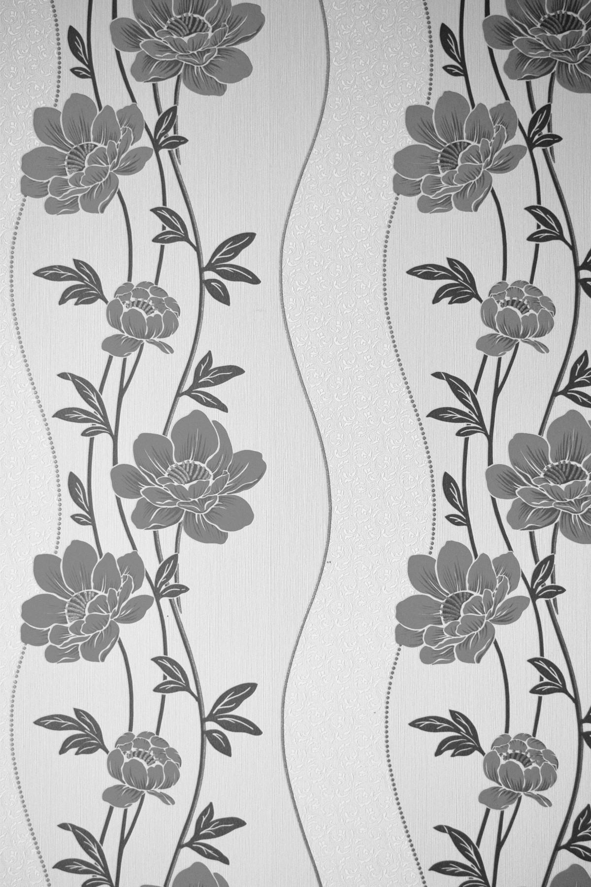 Gambar  cabang hitam dan putih tekstur bunga Bunga