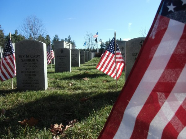 Memorial Day Cemetery Flags