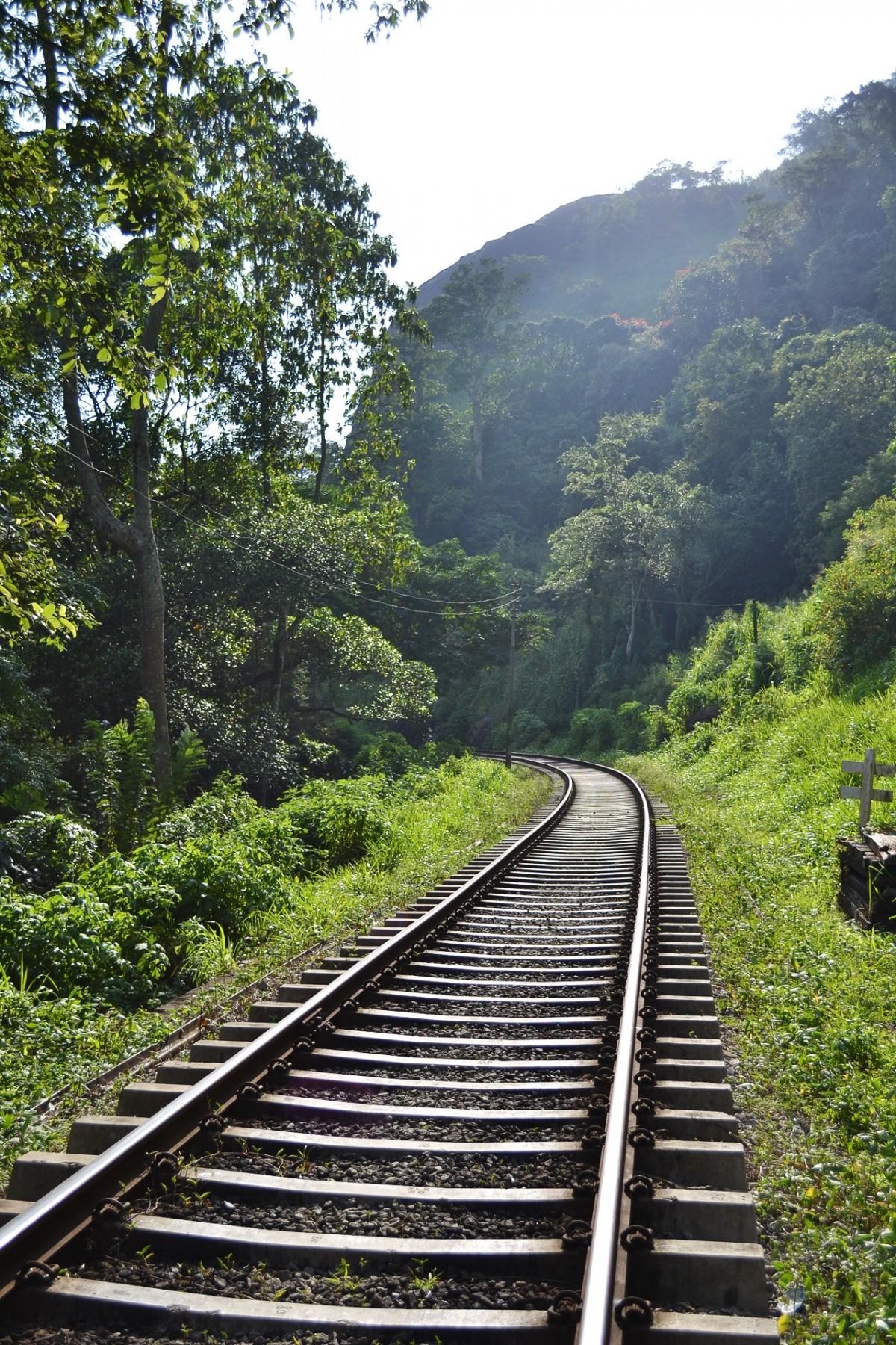 Hd Good Afternoon Wallpaper Free Images Track Railroad Bridge Night Rail Train