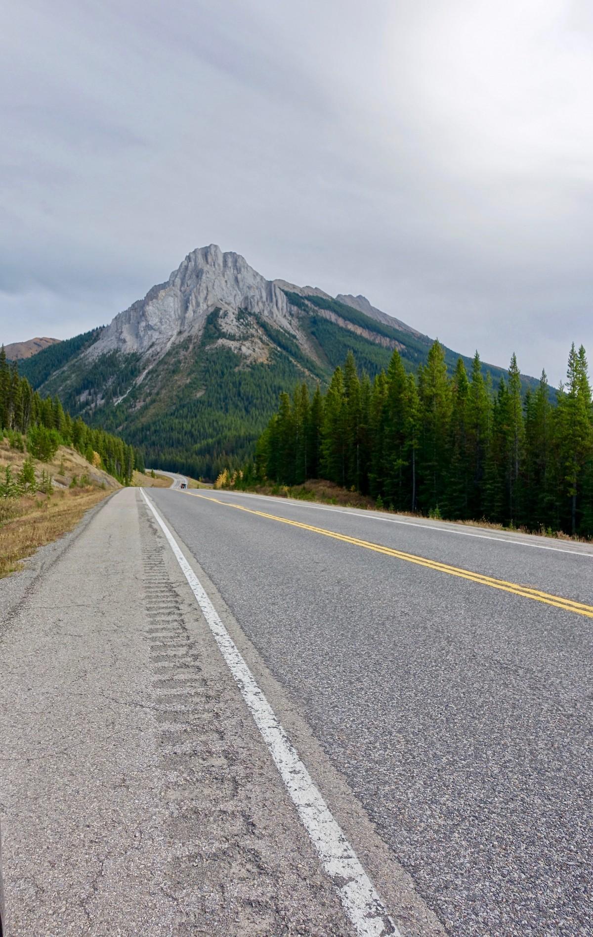 Gambar  pemandangan jalan raya batu aspal jalur
