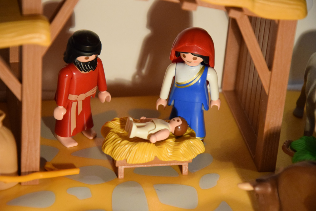 Nativity Scene And They Came With Haste And Found Both