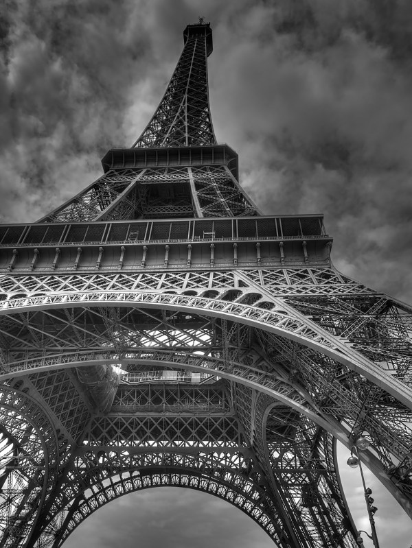 Free Black And White Eiffel Tower Paris France