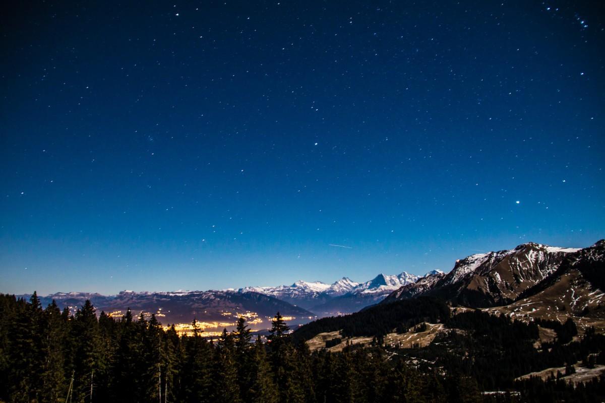paysage la nature montagne neige