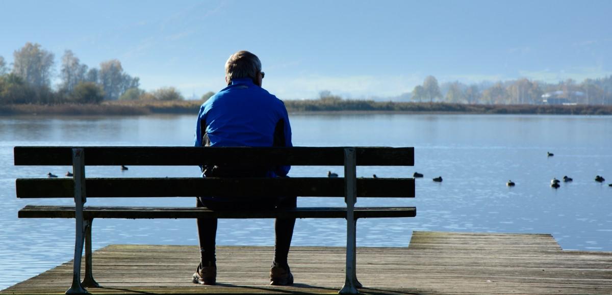 Free Images Man Sea Water Person Bench Lake