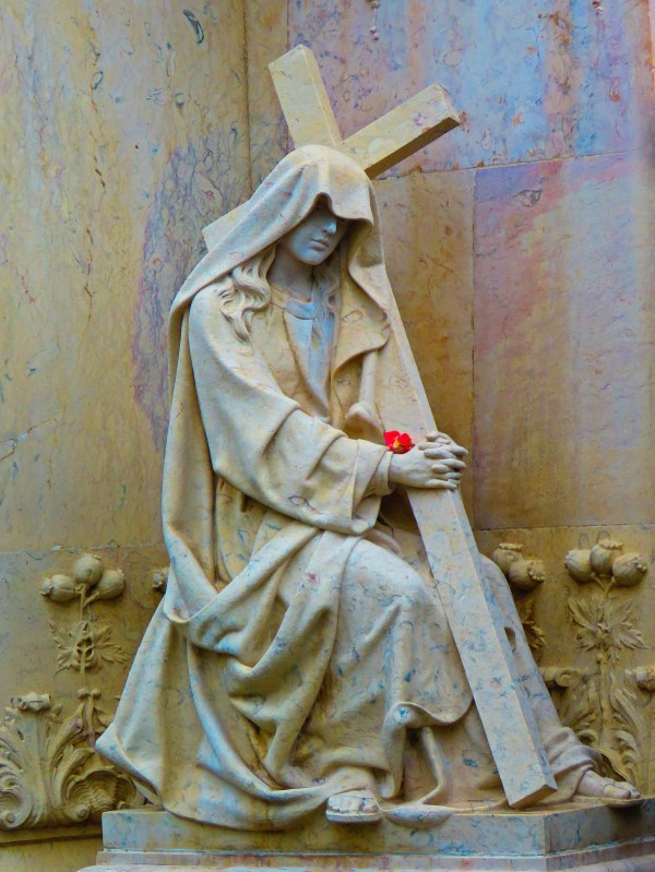 Free Woman Flower Monument Statue Religion Cemetery Painting Sculpture Art