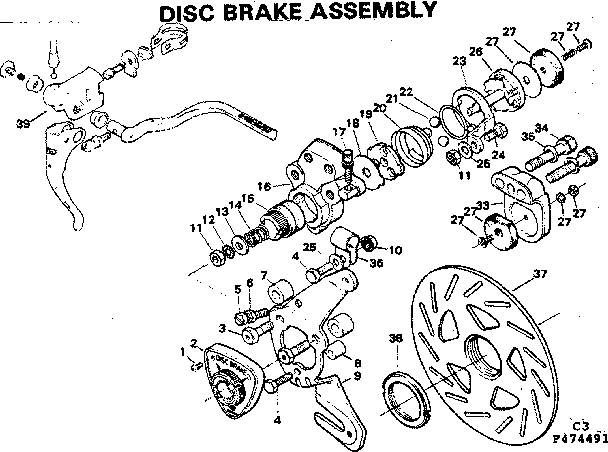 Bicycle Disc Brake Parts Diagram