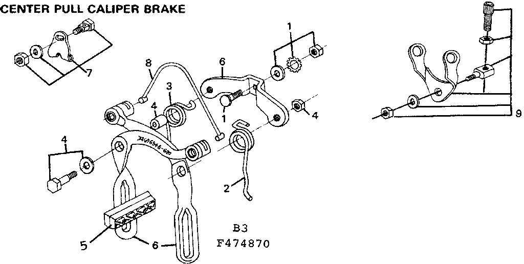 Bicycle Brake Caliper Parts Diagram