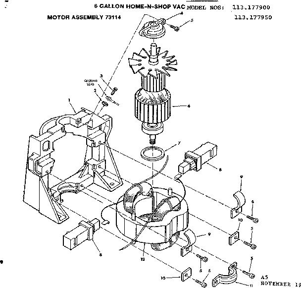 Motor Parts: Vacuum Motor Parts