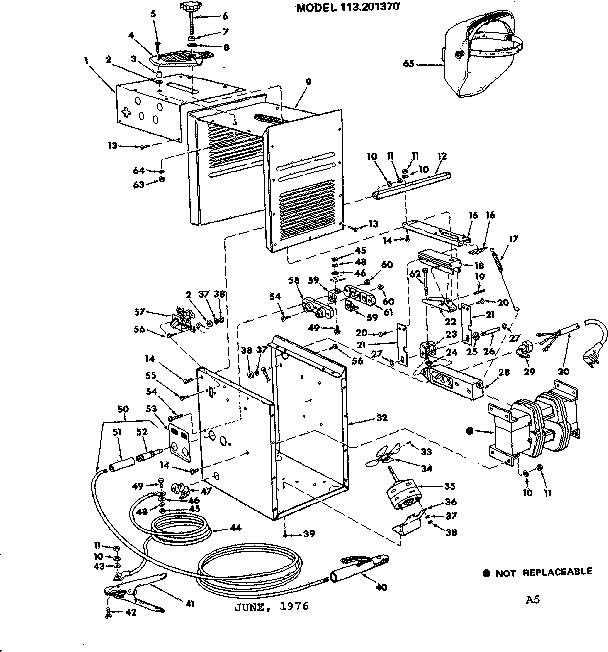 CRAFTSMAN CRAFTSMAN 230 AMP DUAL RANGE ARC WELDER Parts