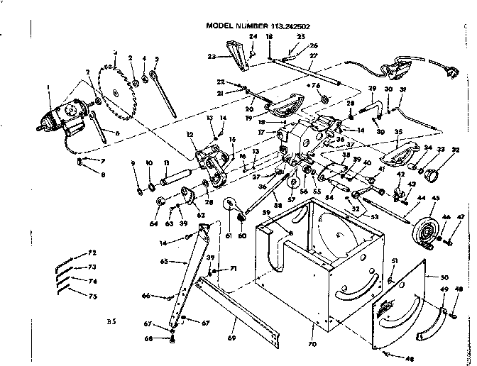CRAFTSMAN Craftsman 12-inch Motorized Table Saw Parts