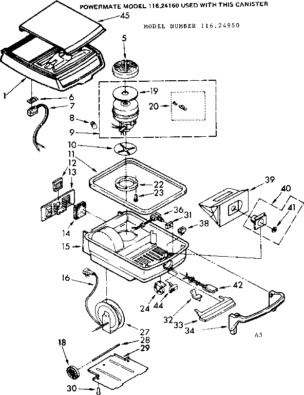 KENMORE KENMORE VACUUM CLEANER AND ATTACHMENT SET Parts