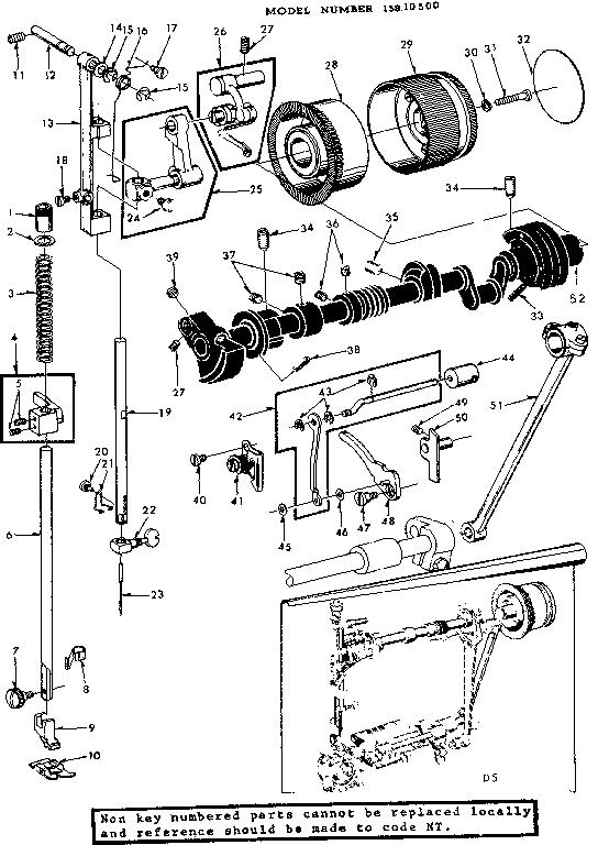 PRESSER BAR GUIDE ASSEMBLY Diagram & Parts List for Model