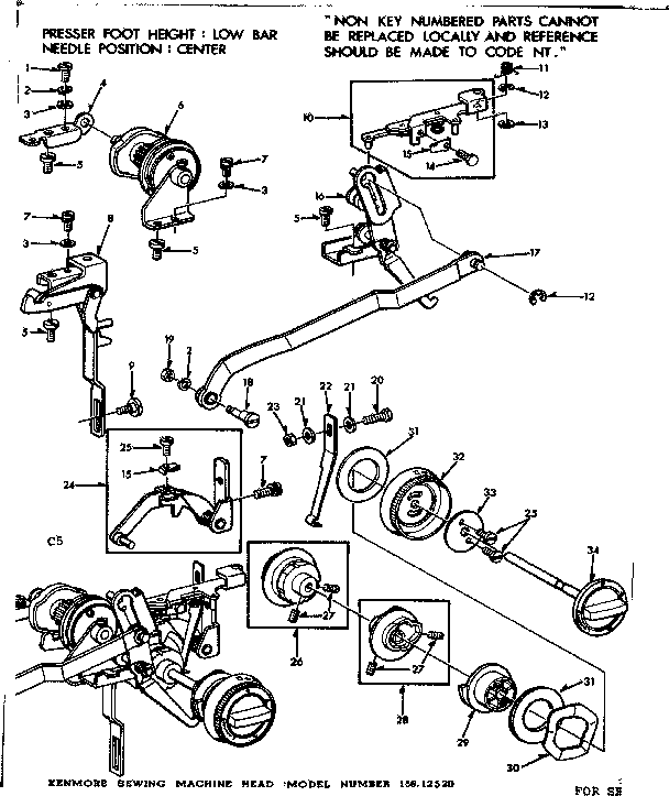 GEARED CAM ASSEMBLY Diagram & Parts List for Model