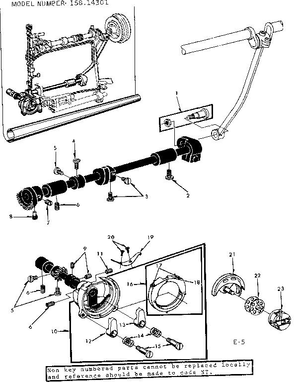 SHUTTLE ASSEMBLY Diagram & Parts List for Model 15814301
