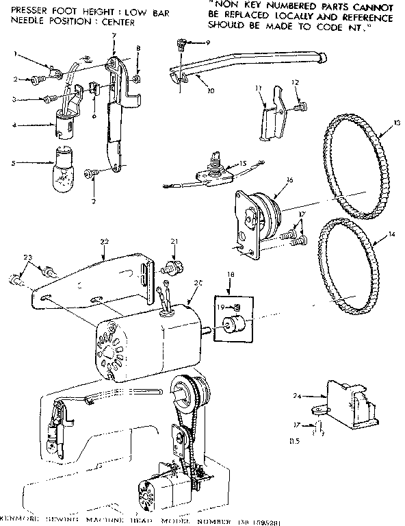 MOTOR ASSEMBLY Diagram & Parts List for Model 1581595281