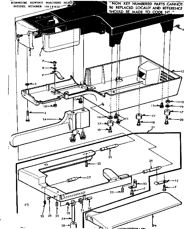 WORKING TABLE ASSEMBLY Diagram & Parts List for Model