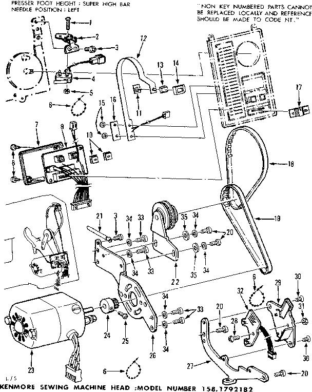 Wiring Diagram Sewing Machine Motor
