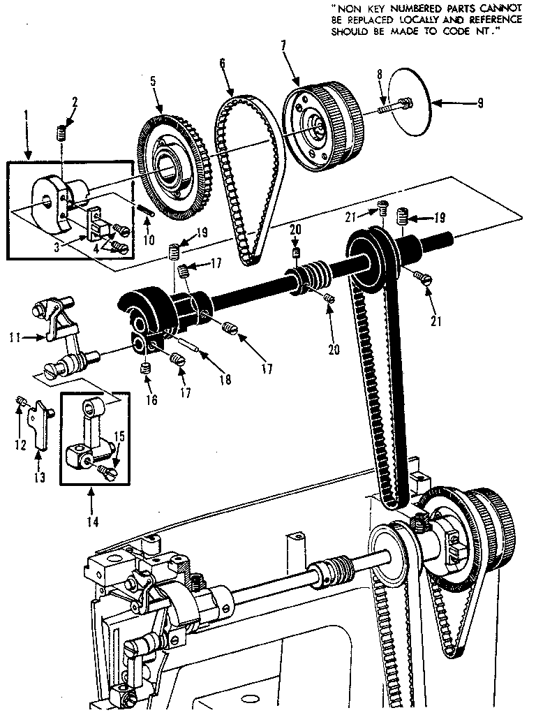 CLUTCH WHEEL ASSEMBLY Diagram & Parts List for Model