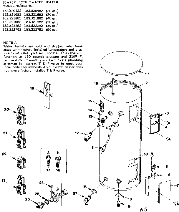Rheem 40 Gallon Electric Water Heater Wiring Diagram