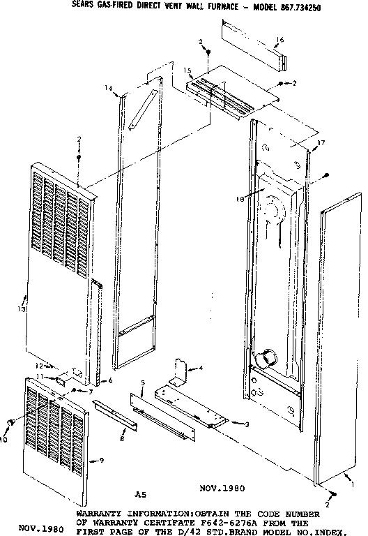 Wall Furnace: Sears Direct Vent Wall Furnace