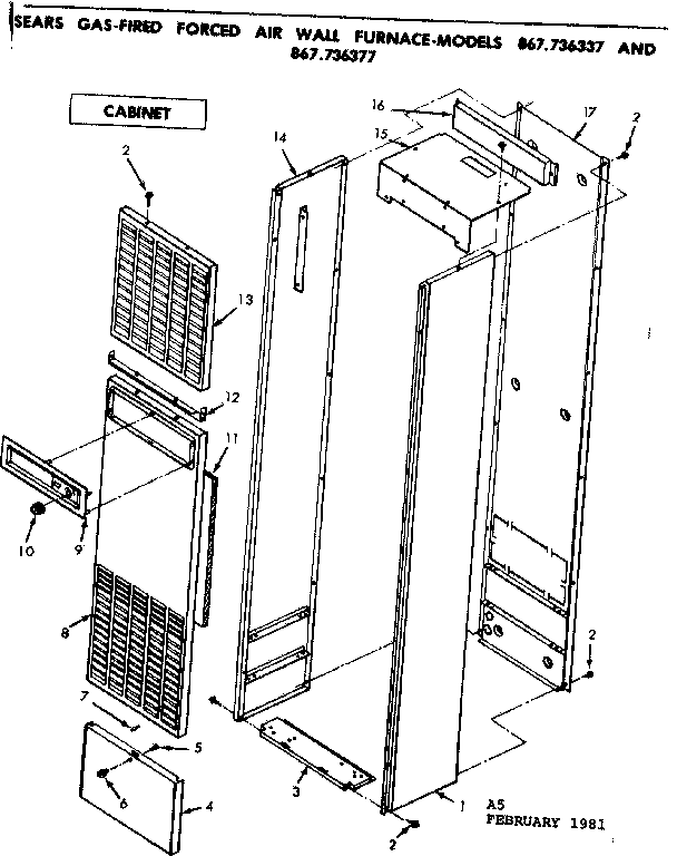 Wall Furnace: Forced Air Wall Furnace