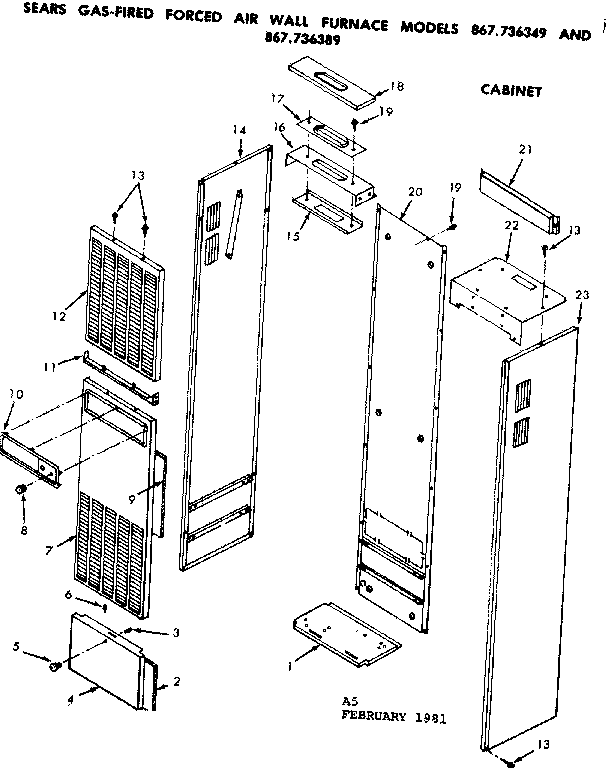 Wall Furnace: Forced Air Gas Wall Furnace