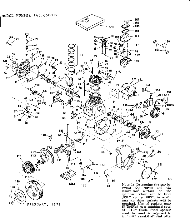 craftsman engine diagram