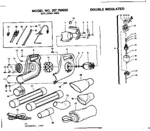 CRAFTSMAN CRAFTSMAN ELECTRIC BLOWER Parts | Model 257798950 | Sears PartsDirect