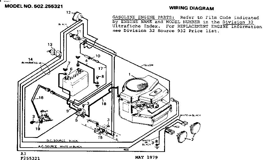 wiring diagram for sears craftsman lawn tractor