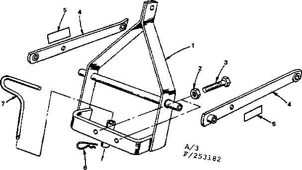 3 PT. HITCH ADAPTER Diagram & Parts List for Model