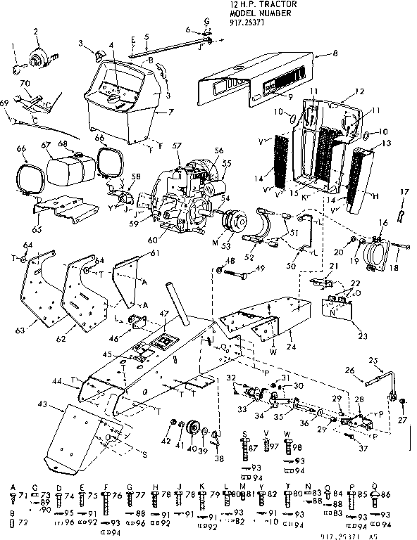 Mower Deck Parts Diagram As Well Sears Lawn Tractor Wiring