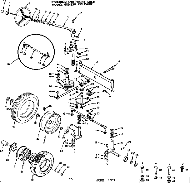 14 garden tractor diagram parts list for model 917257030 craftsman