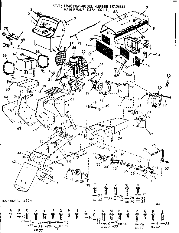 Sears Craftsman Garden Tractor Diagram, Sears, Free Engine