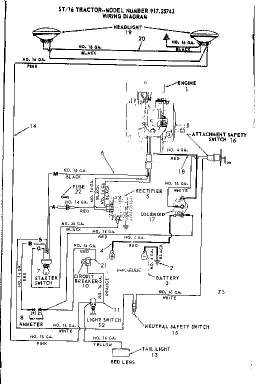 WIRING DIAGRAM Diagram & Parts List for Model 91725743