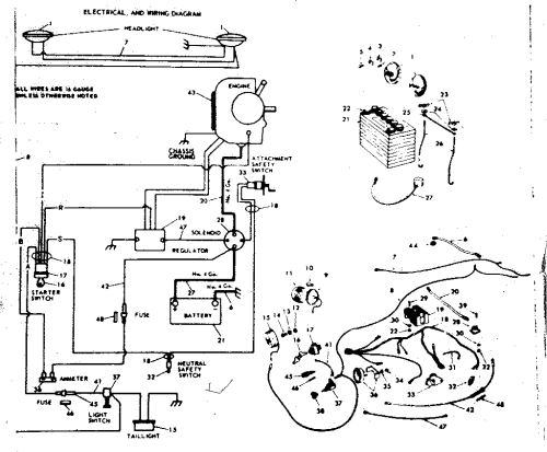 small resolution of sears ss16 wiring diagram wiring diagram inside sears lt2000 wiring diagram sears ss16 wiring diagram