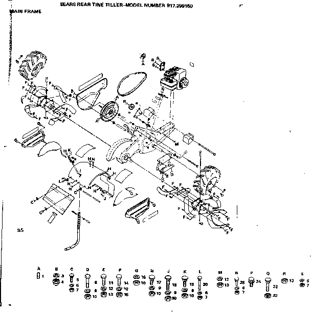 Craftsman Rear Tine Tiller Transmission Diagram