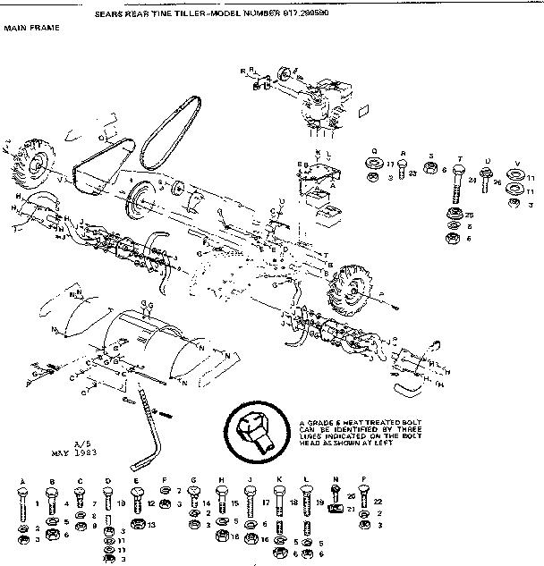 32 Craftsman Rear Tine Tiller Transmission Diagram