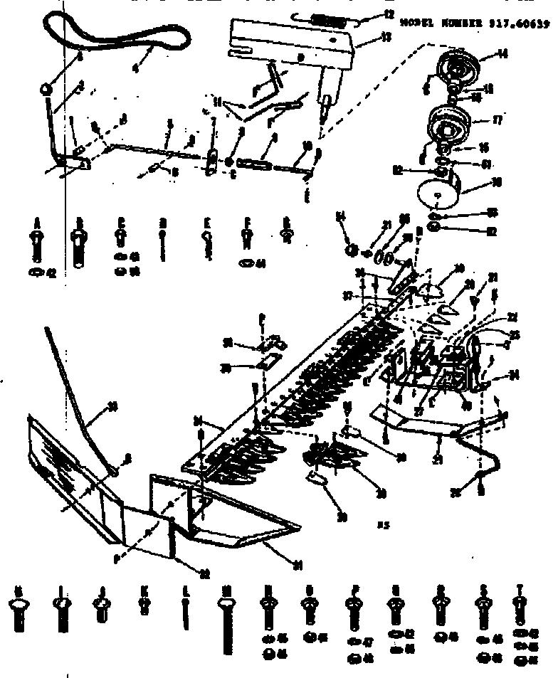 CUTTER BAR Diagram & Parts List for Model 91760639