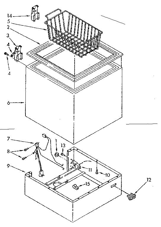 CABINET PARTS Diagram & Parts List for Model 1988181680