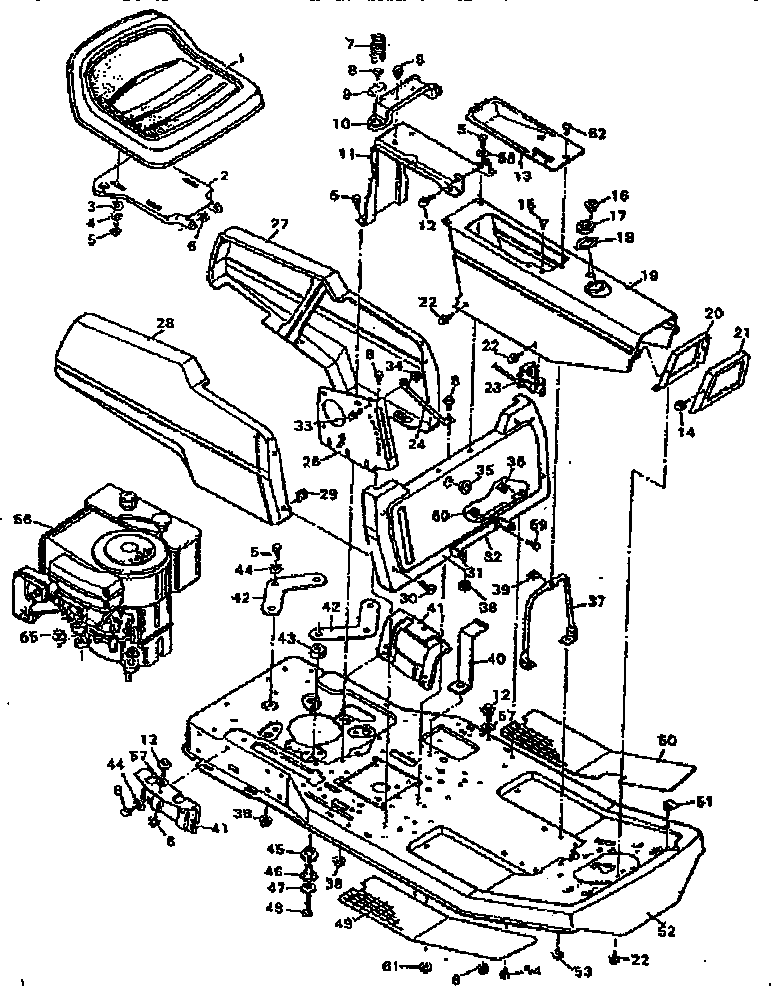 REPLACEMENT PARTS BODY CHASSIS Diagram & Parts List for