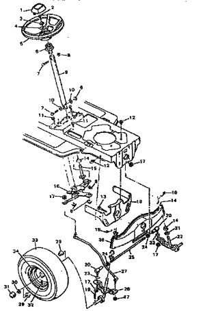 STEERING SYSTEM Diagram & Parts List for Model 502255751 CraftsmanParts RidingMowerTractor