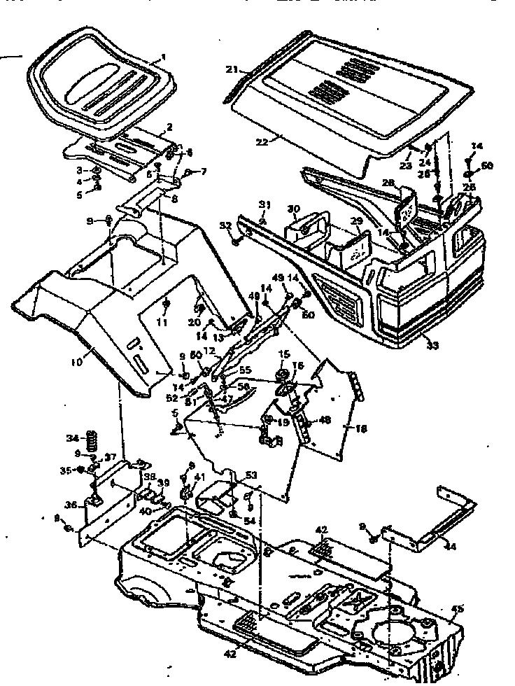 Craftsman Parts Mower T1400