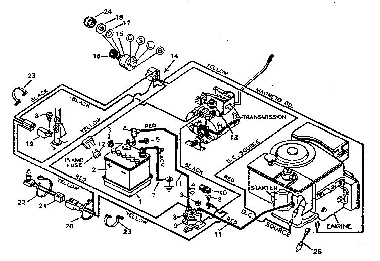 wiring diagram for a craftsman riding mower, Wiring diagram