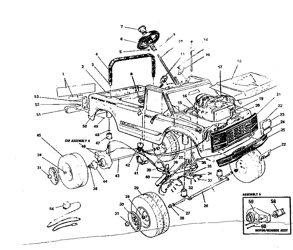 hight resolution of power wheels pp3200b replacement parts diagram